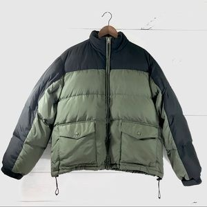 ATHLETECH Olive Green Black Goose Down Puffer Coat